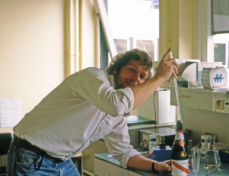 Dr. Mark Scott in the lab, Paris, 1991