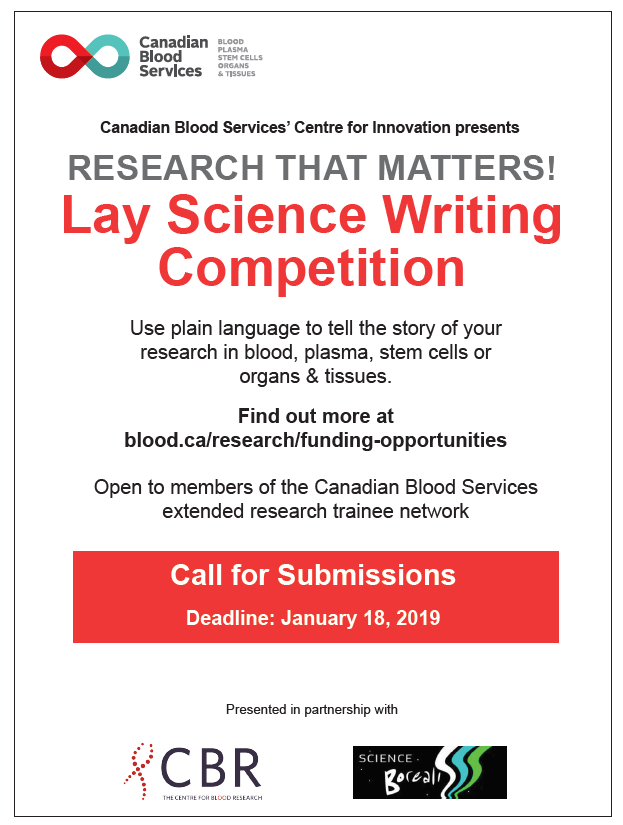 lay science writing competition poster 2018