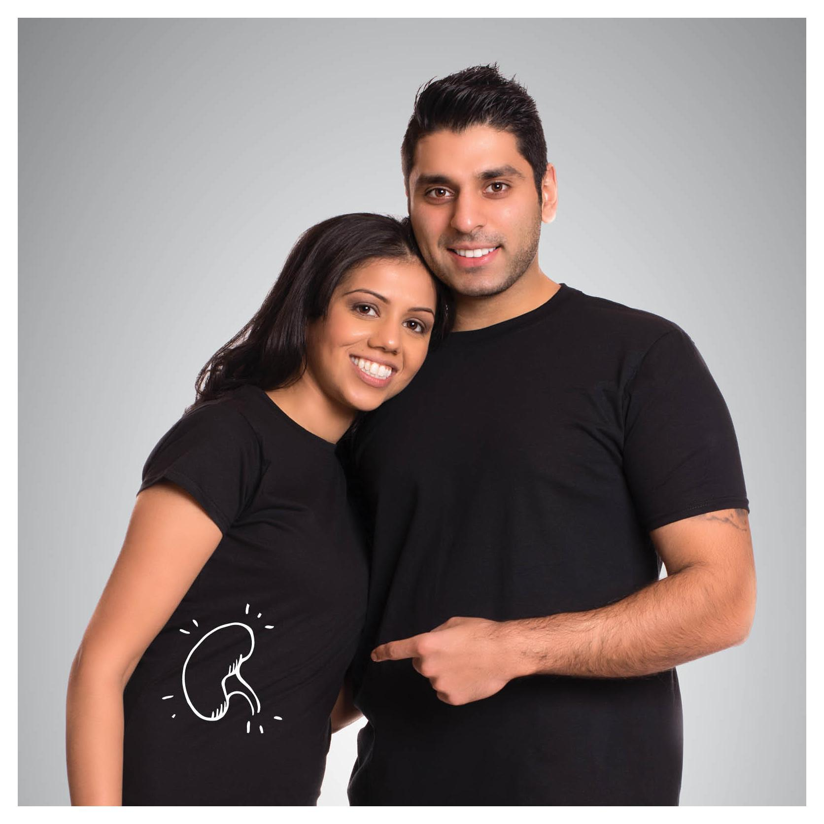 Gurjit (left) with her husband and kidney donor Shak (right). Photo courtesy of BC Transplant