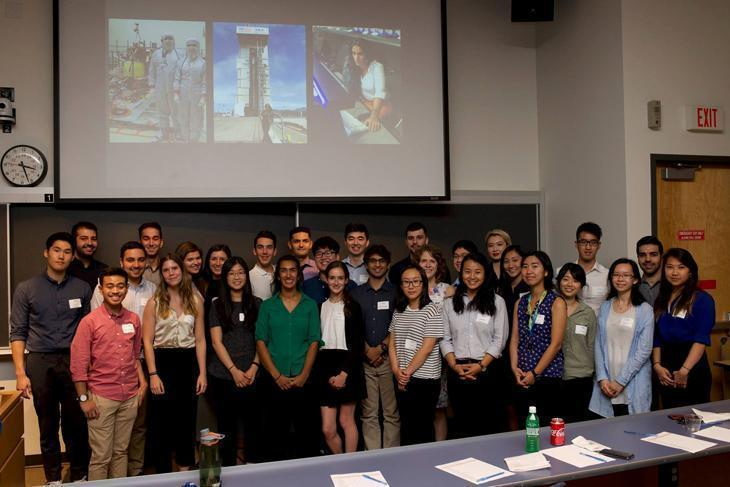Dr. Farah Alibay (front row in green) with the Centre for Blood Research summer students.