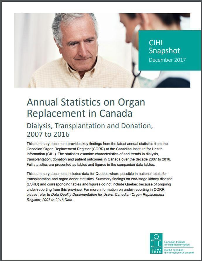 Canadian Organ Replacement Register Annual Statistics