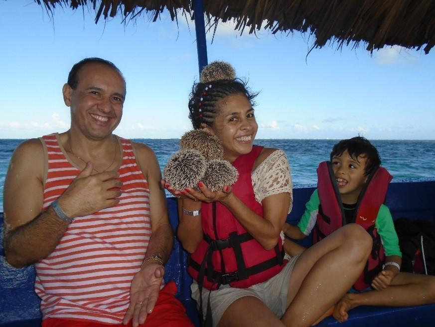 Dr. Ramirez on vacation with her family.