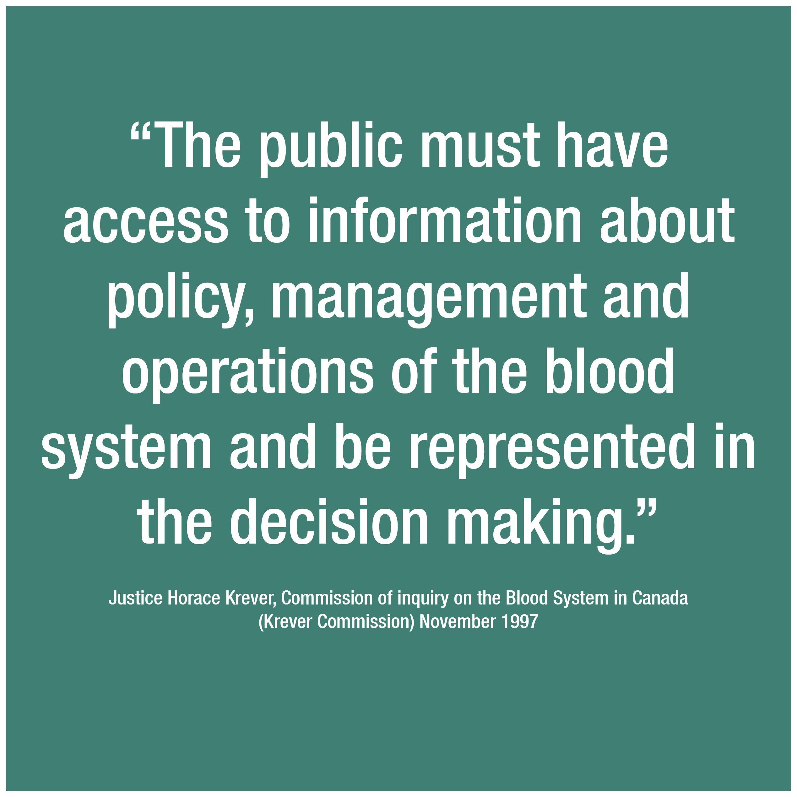 Committed to public involvement