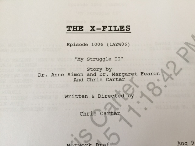 The X-Files script cover for My Struggle II