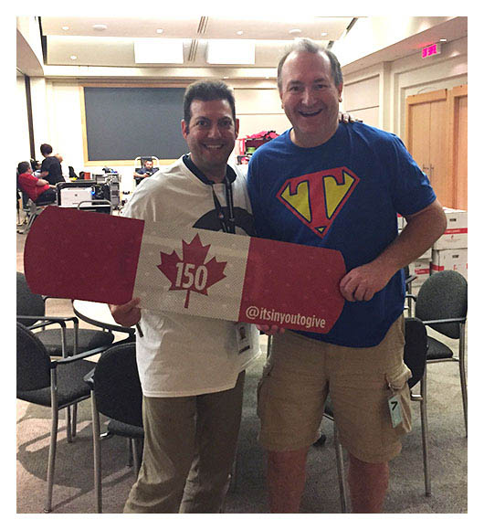 Ilan (left) and Dave (right) of the Canada Revenue Agency, proudly stand together as Partners for Life champions in Ottawa