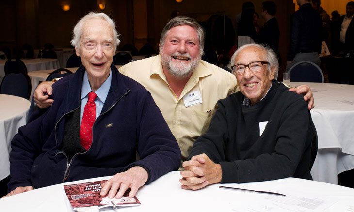 Dr. Earl W. Davie, Dr. Ross T. MacGillivray and Dr. Edmond H. Fischer at the 2017 Symposium in Vancouver.