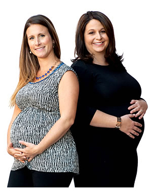 Canadian Blood Services employees Michelle Alfieri (right) and Nathaly Barnett (left) both made the decision to donate their babies' cord blood to Canadian Blood Services' Cord Blood Bank