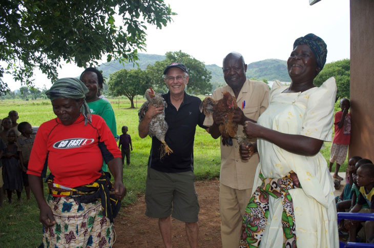Dr. Conway in rural Uganda
