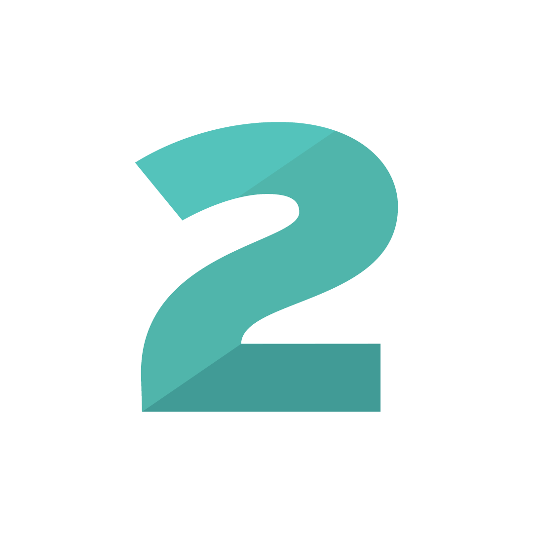 number two icon - symbol