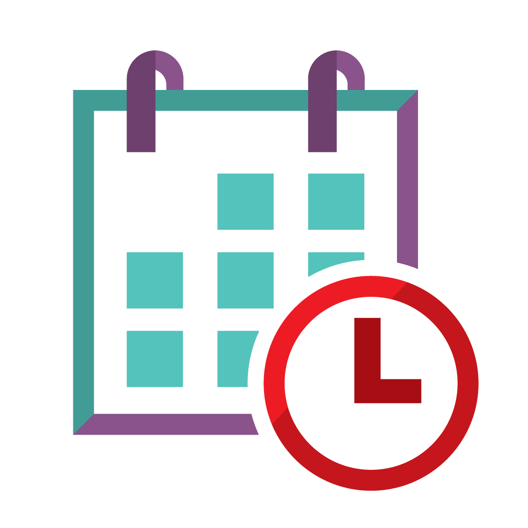 calendar and clock icon - symbol