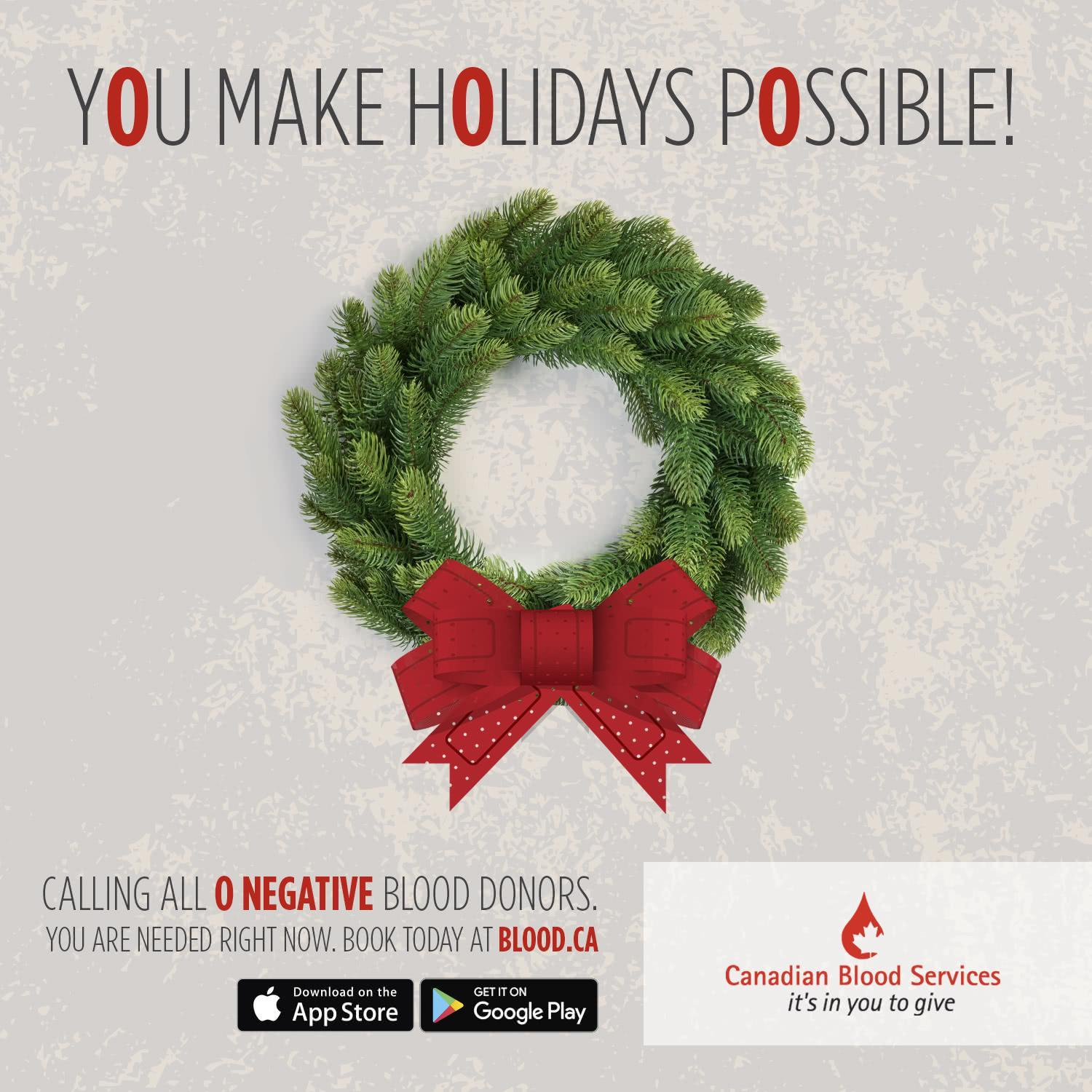 You make the holidays possible!