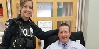 Blood donor: Derek Donn, Hamilton Police Officer and November to Remember organizer