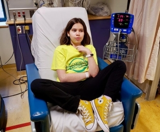 Abby, 11, prepares to donate stem cells for her brother.