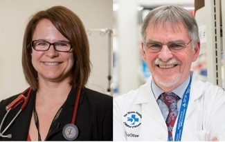 Drs Duncan Stewart and Lauralyn McIntyre (photo courtesy of The Ottawa Hospital)