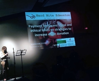 Maeghan presents at Nerd Nite #25 in Edmonton: TELUS World of Science Edition