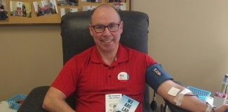 CSMLS Board Member, Greg Dobbin at the Donor Centre in Charlottetown, PEI
