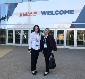 Narges & Olga at AABB 2019 in San Antonio