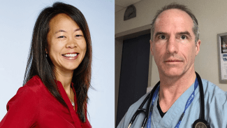 Image of Dr. Yulia Lin and her colleague Dr. Edward Etchells