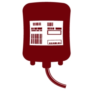 Blood bag graphic