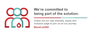 Digest banner graphic of an 3 person silhouette with a blood droplet and we're committed to being part of the solution