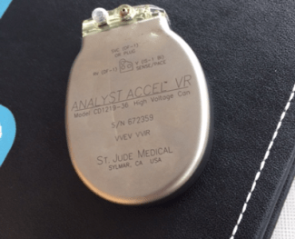 medical device inserted into Everad's chest in 2010