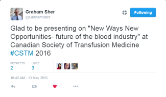 Dr. Graham Sher - Tweet from CSTM 2016