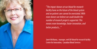 Janet McManus, manager, netCAD blood for research