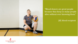 thank you from blood recipient