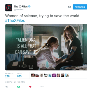 Tweet: women in science The X-Files