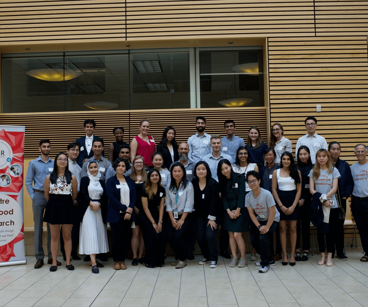 1.	The summer students with CBR director, Dr. Ed Conway and keynote speaker, Dave Ireland
