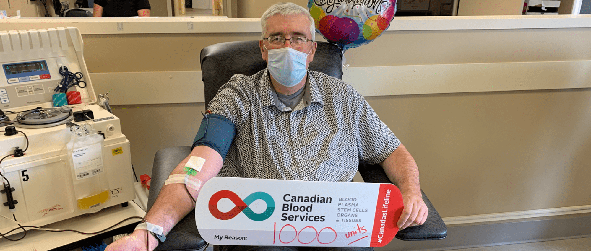 Allen Veale of Stratford, P.E.I. joins exceptional group of milestone plasma donors