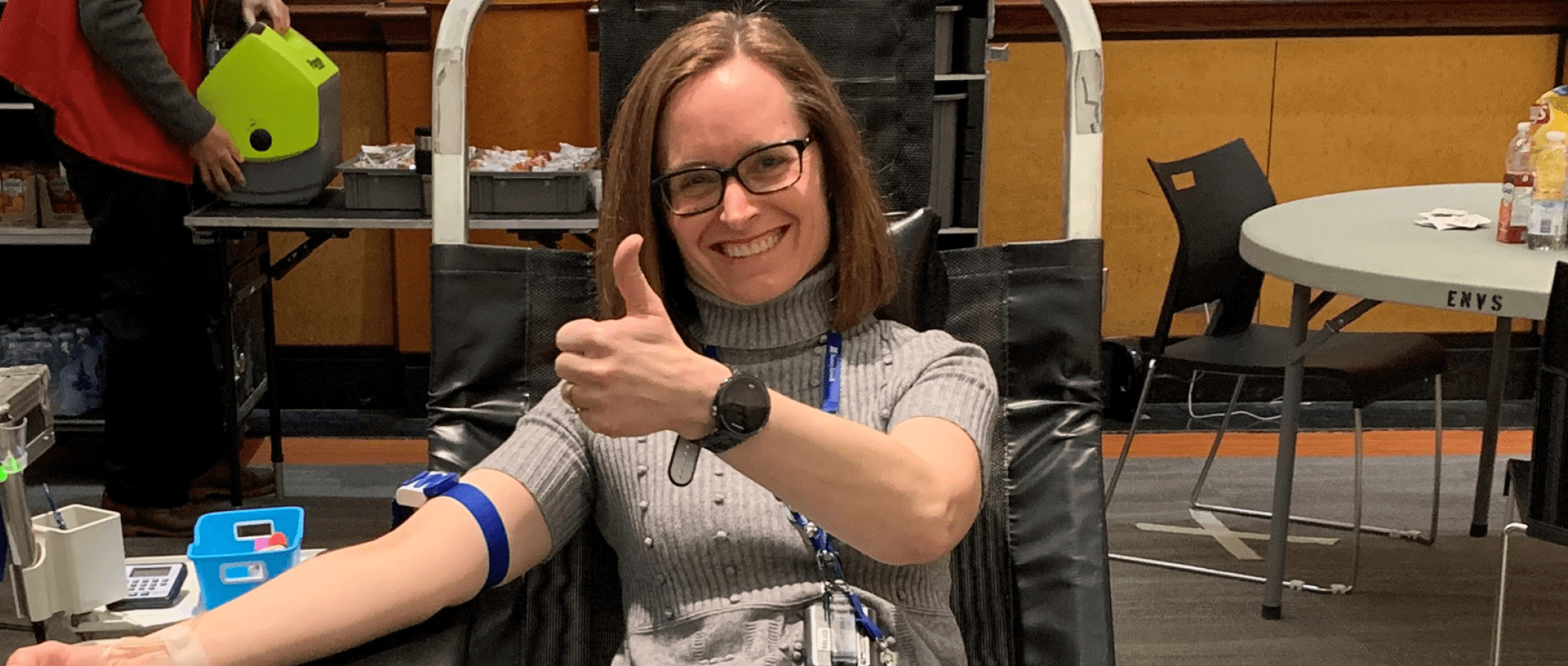 Doctors bracing for the impact of COVID-19 are finding time to give blood and encourage others to do the same.