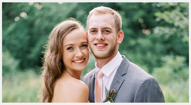 Image of stem cell donor Jason Kooy and blood donor Sierra Kooby on their wedding day