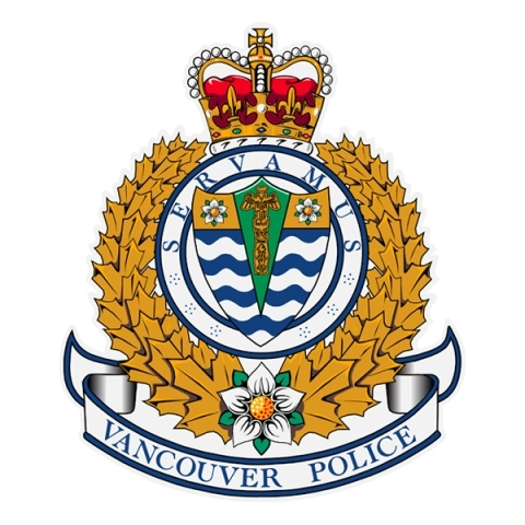 Logo of the Vancouver Police Department with a yellow reef and a red and gold crown at the top.